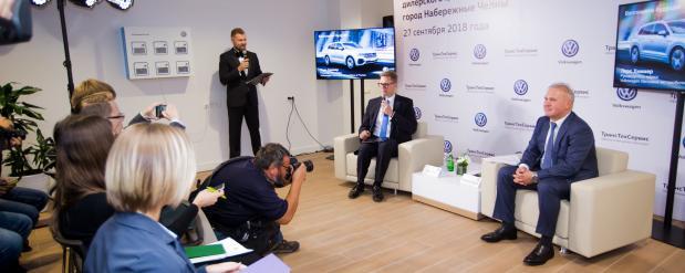 Volkswagen открыл в Татарстане первый инновационный автосалон