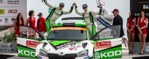 Ралли Португалии: экипаж ŠKODA во главе с Калле Рованпера выигрывает гонку в зачете WRC 2 Pro и вырывается в лидеры чемпионата
