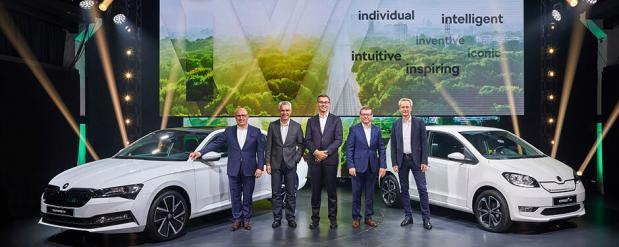 Премьеры от ŠKODA в Братиславе новый суббренд электромобилей iV, модели CITIGOe iV и SUPERB iV