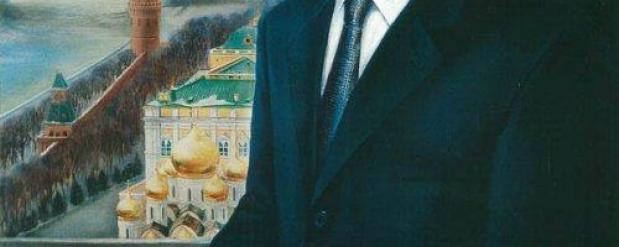 Никас Сафронов подарил Василю Шайхразиеву Путина